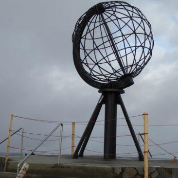Das berühmte Monument am Nordkap
