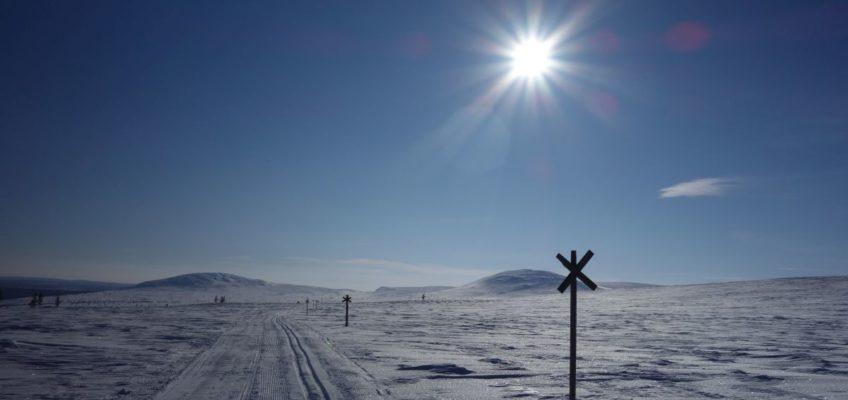 Finnische Weite im Winter