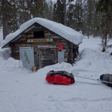 Die winzige Pahtavuoma Hütte